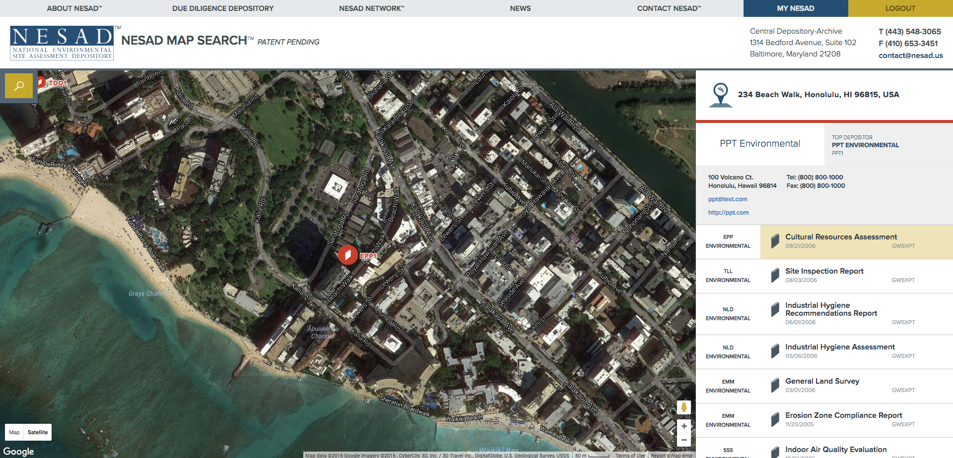 Nesad Map Search Real Estate Records